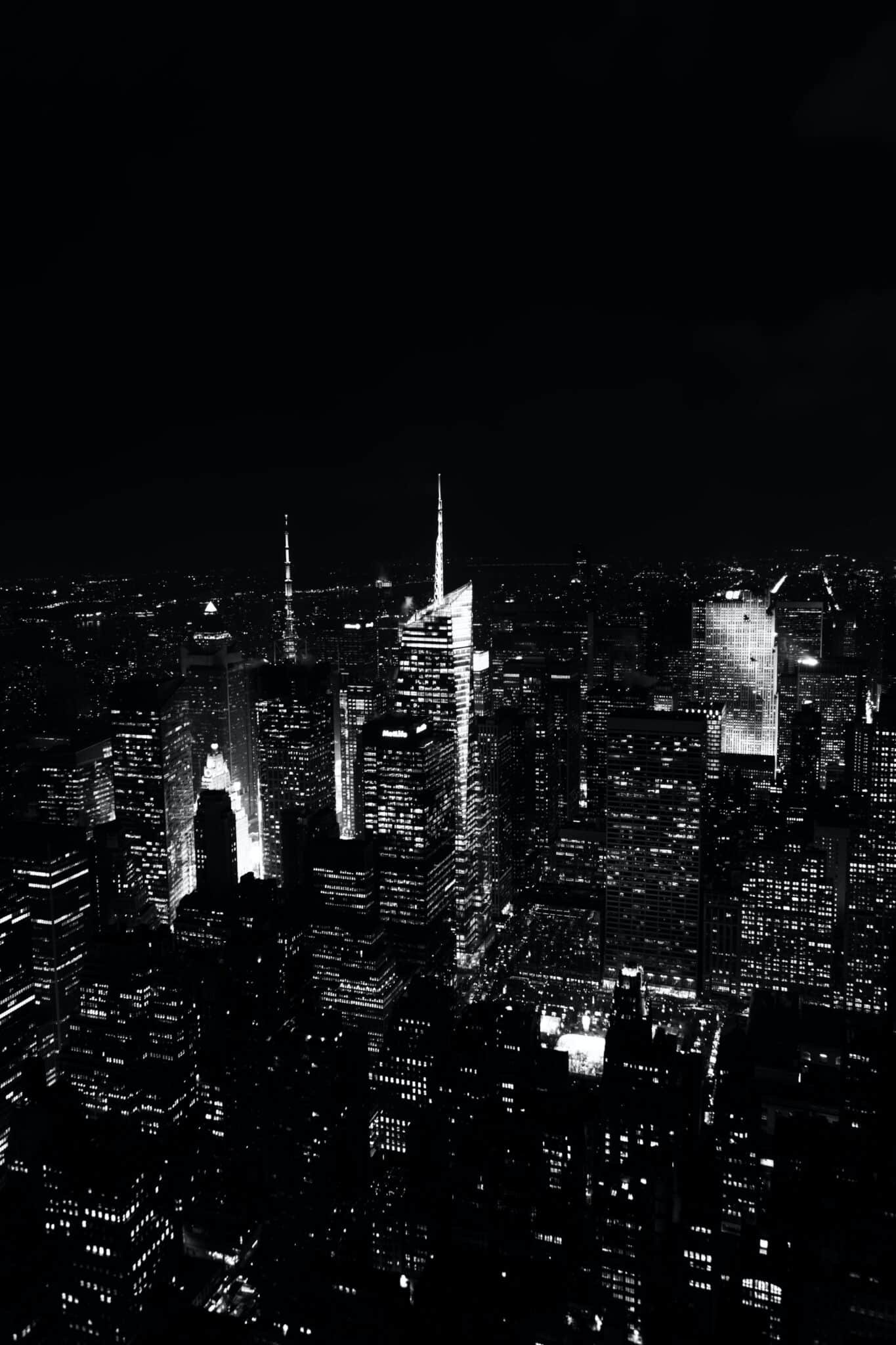 image of skyscrapers at night